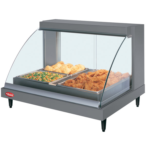 "Hatco GRCDH-2P Gray 33"" Glo-Ray Full Service Single Shelf Merchandiser with Humidity Controls - 1030W"