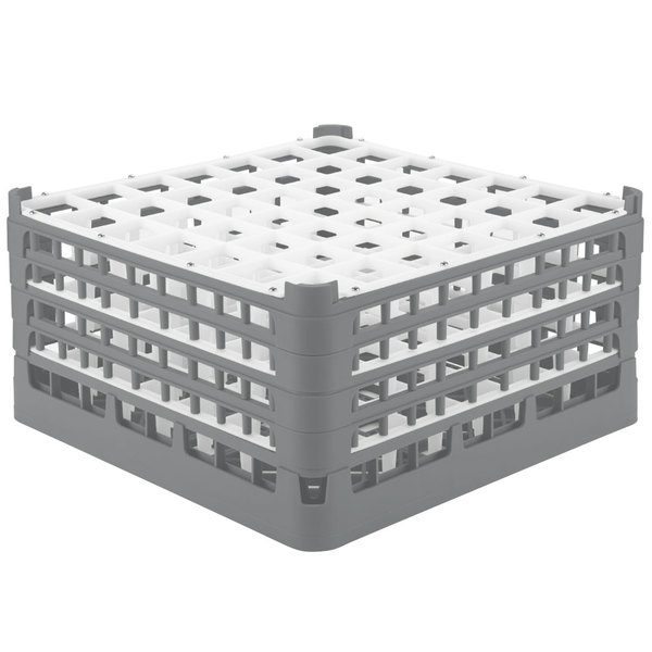 "Vollrath 52788 Signature Full-Size Gray 49-Compartment 9 1/16"" XX-Tall Plus Glass Rack Main Image 1"