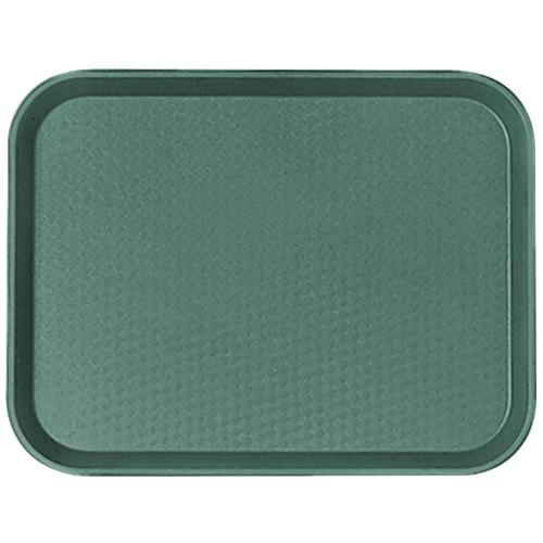 "Cambro 1014FF119 10"" x 14"" Sherwood Green Customizable Fast Food Tray - 24/Case"