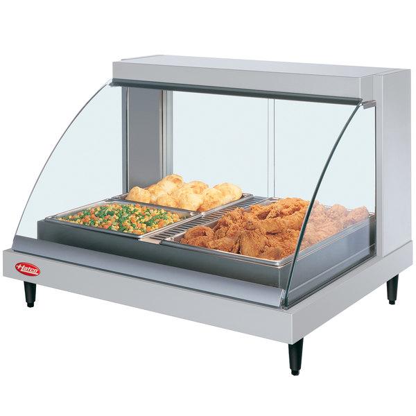 "Hatco GRCDH-2P White 33"" Glo-Ray Full Service Single Shelf Merchandiser with Humidity Controls - 1030W"
