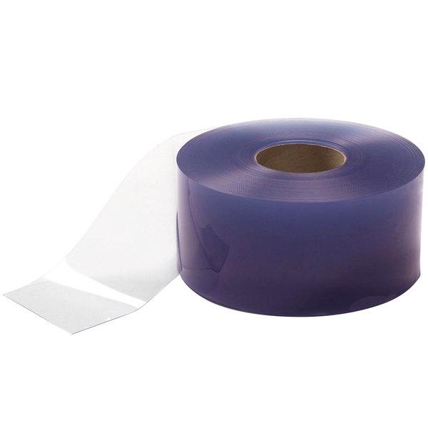 "Curtron FCU04080-3 4"" x .080"" x 300' Transparent Clear PVC Strip Door Roll - Polar Reinforced"