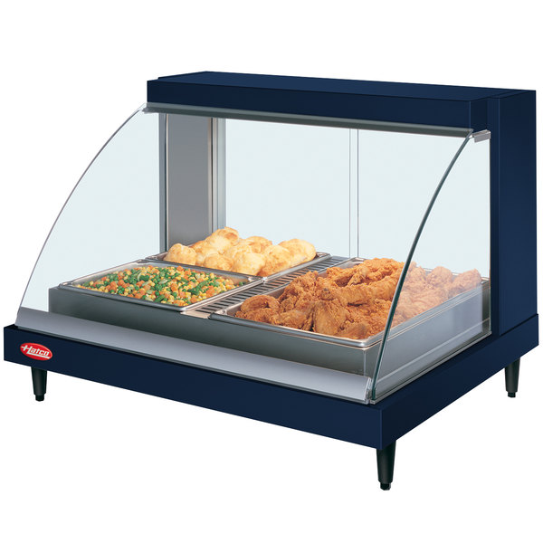 "Hatco GRCDH-2P Navy 33"" Glo-Ray Full Service Single Shelf Merchandiser with Humidity Controls - 1030W"