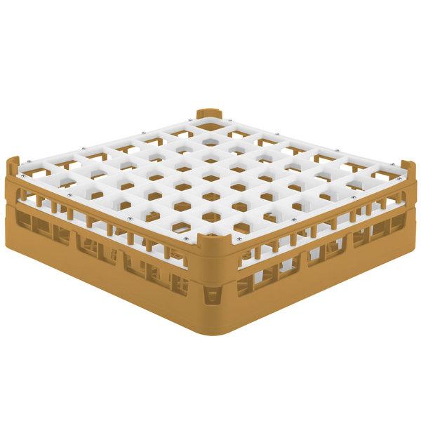 """Vollrath 52785 Signature Full-Size Gold 49-Compartment 4 13/16"""" Medium Plus Glass Rack Main Image 1"""