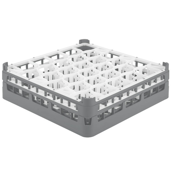 "Vollrath 52813 Signature Lemon Drop Full-Size Gray 30-Compartment 4 13/16"" Medium Plus Glass Rack Main Image 1"