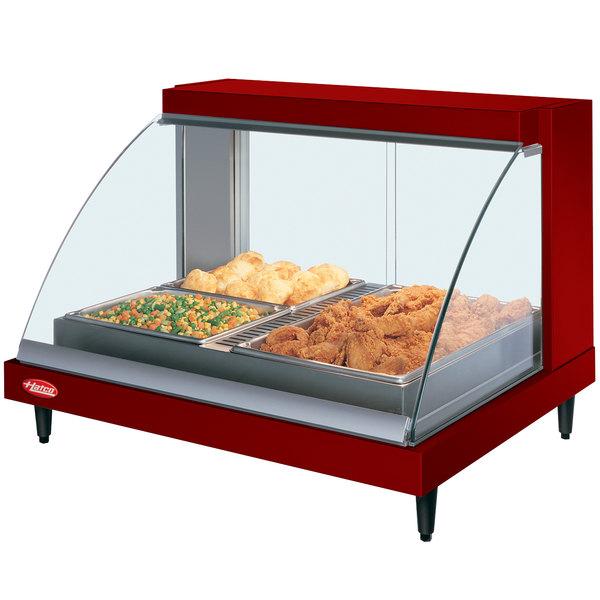 "Hatco GRCDH-2P Red 33"" Glo-Ray Full Service Single Shelf Merchandiser with Humidity Controls - 1030W Main Image 1"