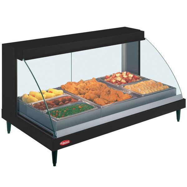 "Hatco GRCDH-3P Black 46"" Glo-Ray Full Service Single Shelf Merchandiser with Humidity Controls - 1255W"