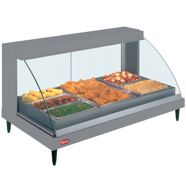 "Hatco GRCDH-3P Gray 46"" Glo-Ray Full Service Single Shelf Merchandiser with Humidity Controls - 1255W"