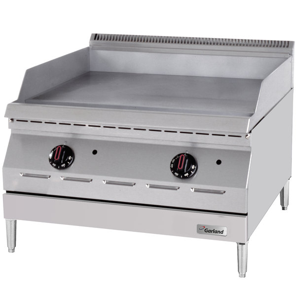 "Garland GD-36GTH Designer Series Natural Gas 36"" Countertop Griddle with Thermostatic Controls - 60,000 BTU"