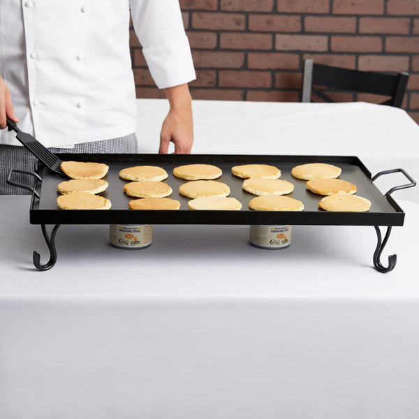 American Metalcraft GS27 Full Size Wrought Iron Griddle with Stand Main Image 10