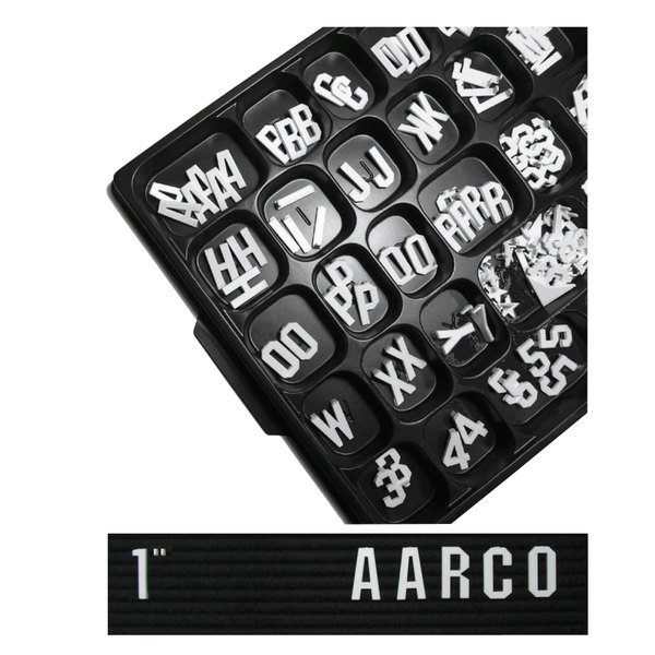 """Aarco GFD1.0 1"""" Gothic Style Universal Single Tab Letter and Number Double Set - 330 Characters"""