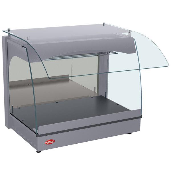 "Hatco GRCMW-1 Gray Glo-Ray 22"" Curved Merchandising Warmer - 670W"