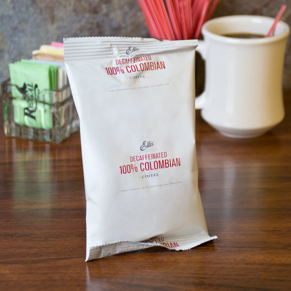 Ellis Colombian Decaf Coffee Packets 2.5 oz. - 96/Case