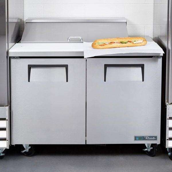 """True TSSU-48-10 48"""" 2 Door Refrigerated Sandwich Prep Table"""