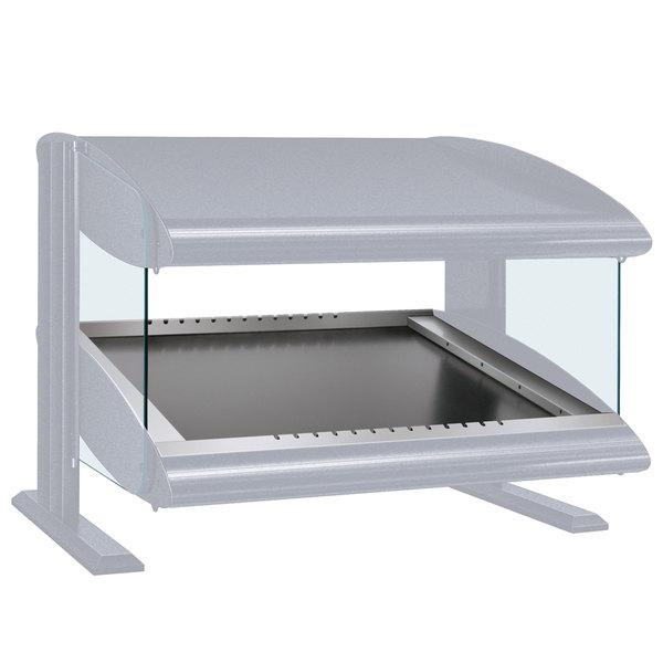 "Hatco HZMS-36 White Granite 36"" Slanted Single Shelf Heated Zone Merchandiser - 120V"