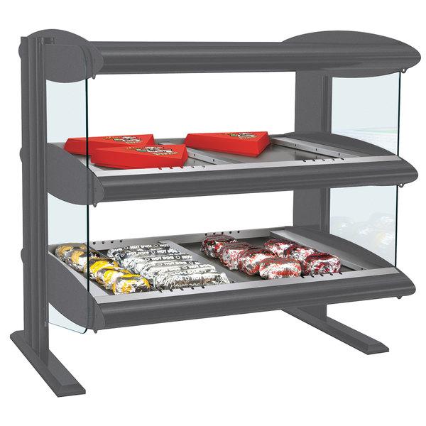 "Hatco HZMH-30D Gray Granite 30"" Horizontal Double Shelf Heated Zone Merchandiser - 120/240V"