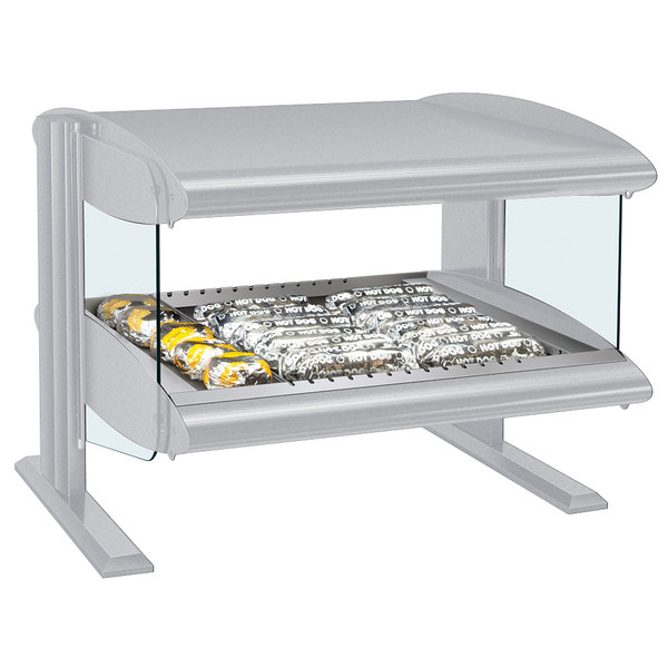 "Hatco HZMH-60 White Granite 60"" Horizontal Single Shelf Heated Zone Merchandiser - 120V"