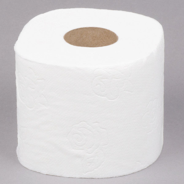 Panda 2-Ply Ultra-Premium 176 Sheet Bathroom Tissue Roll - 96/Case Main Image 1
