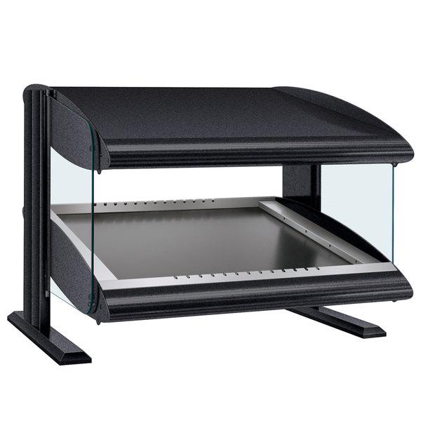 "Hatco HZMS-24 Gray Granite 24"" Slanted Single Shelf Heated Zone Merchandiser - 120V"