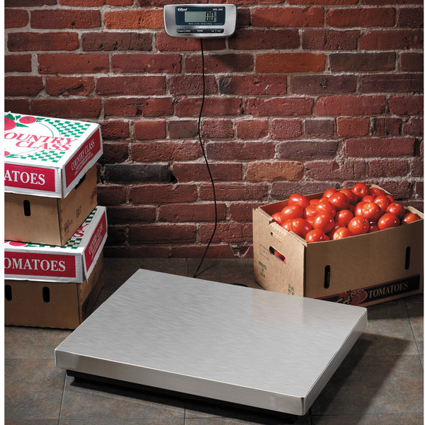 "Edlund ERS-300 300 lb. Digital Receiving Scale with 25 3/4"" x 19 3/4"" Platform"