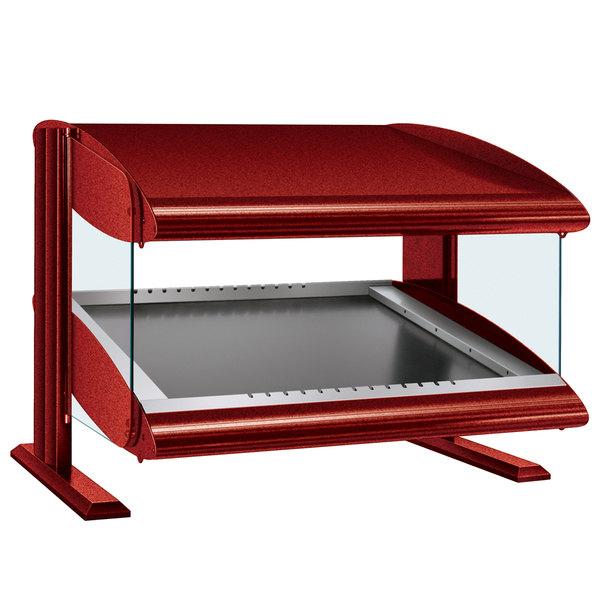 "Hatco HZMS-30 Warm Red 30"" Slanted Single Shelf Heated Zone Merchandiser - 120V"