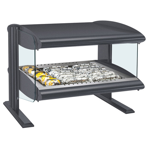"Hatco HZMH-60 Gray Granite 60"" Horizontal Single Shelf Heated Zone Merchandiser - 120V"