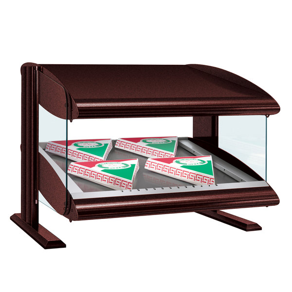 "Hatco HZMS-60 Antique Copper 60"" Slanted Single Shelf Heated Zone Merchandiser - 120V"