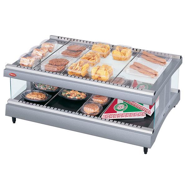 "Hatco GR3SDH-39 Gray Granite Glo-Ray 39"" Horizontal Single Shelf Heated Glass Merchandising Warmer - 120V"