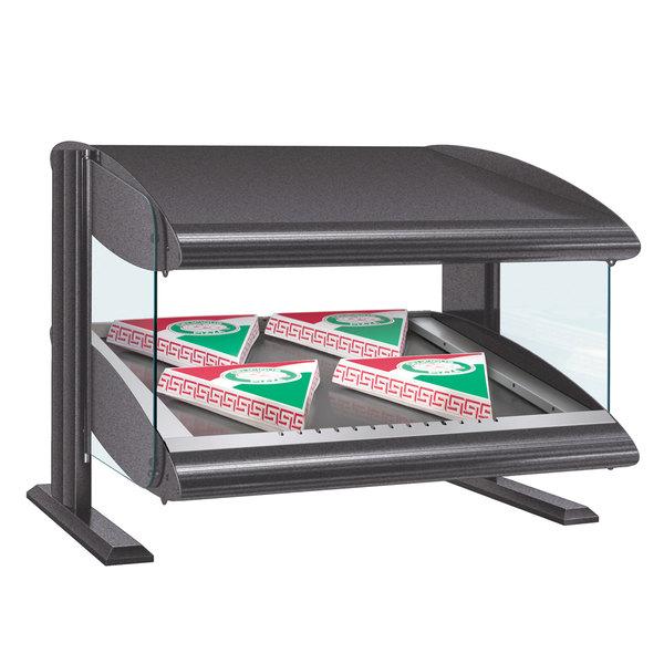"Hatco HZMS-48 Gray Granite 48"" Slanted Single Shelf Heated Zone Merchandiser - 120V"