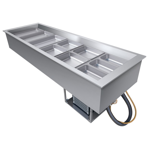 Hatco CWB-6 Six Pan Refrigerated Drop In Cold Food Well with Drain - 120V Main Image 1