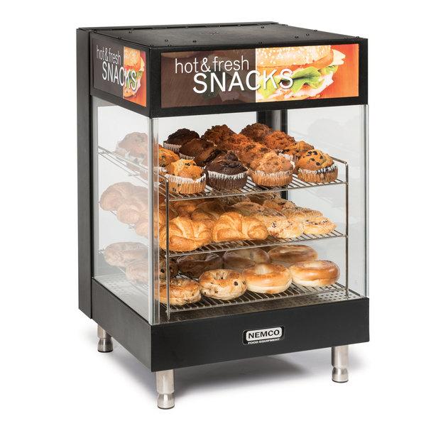 Nemco 6424 Hot Food Merchandiser with 3 Angled 15 inch Shelves - 120V