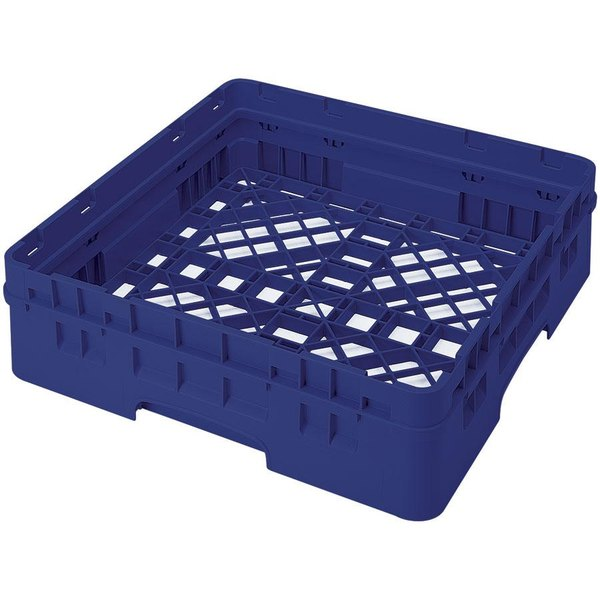 Cambro BR414186 Navy Blue Camrack Full Size Open Base Rack with 1 Extender Main Image 1