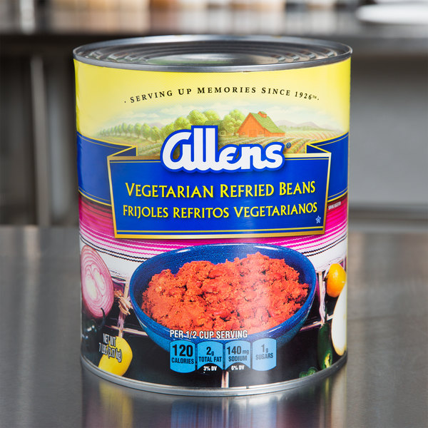 Allens Vegetarian Refried Beans #10 Can
