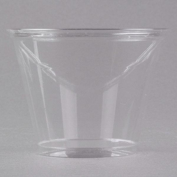 Dart UltraClear TP9R 9 oz. Clear PET Plastic Squat Cold Cup - 1000/Case