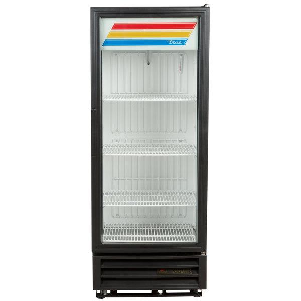 True GDM-12F-LD Black 25 inch Glass Door Merchandiser Freezer with LED Lighting