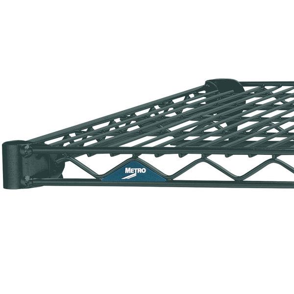"Metro 1448N-DSG Super Erecta Smoked Glass Wire Shelf - 14"" x 48"" Main Image 1"