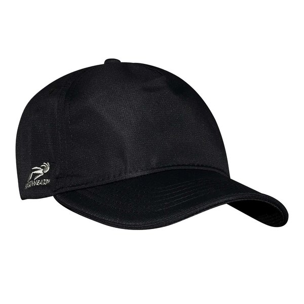 Headsweats Black Colored 5-Panel Chef Cap with Eventure Fabric and Terry Sweatband
