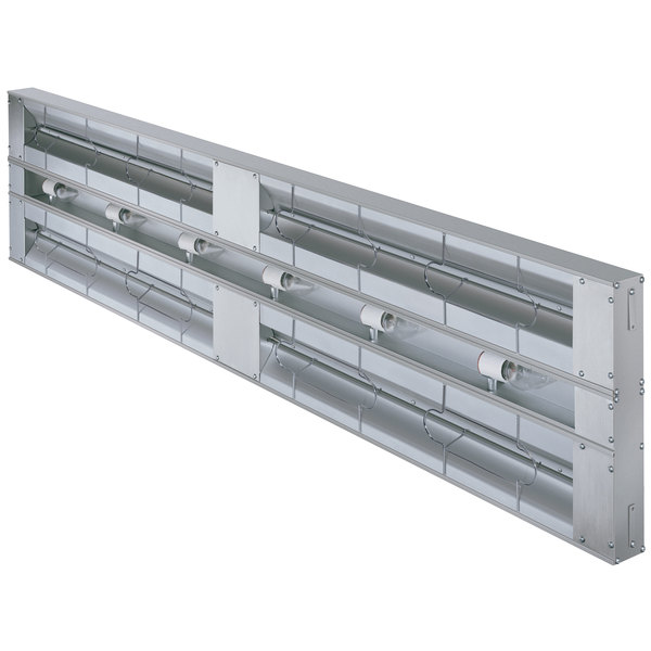 "Hatco GRAL-60D Glo-Ray 60"" Aluminum Dual Infrared Lighted Warmer with 6"" Spacer and Toggle Controls - 120V, 2400W"