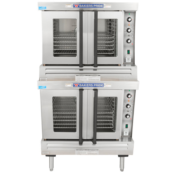 Bakers Pride BCO-G2 Cyclone Series Liquid Propane Double Deck Full Size Convection Oven - 120,000 BTU