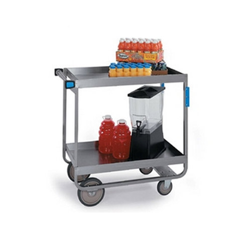 "Lakeside 527 Heavy Duty Stainless Steel 2 Deep Shelf Utility Cart -22 1/4"" x 38"" x 37 1/4"""