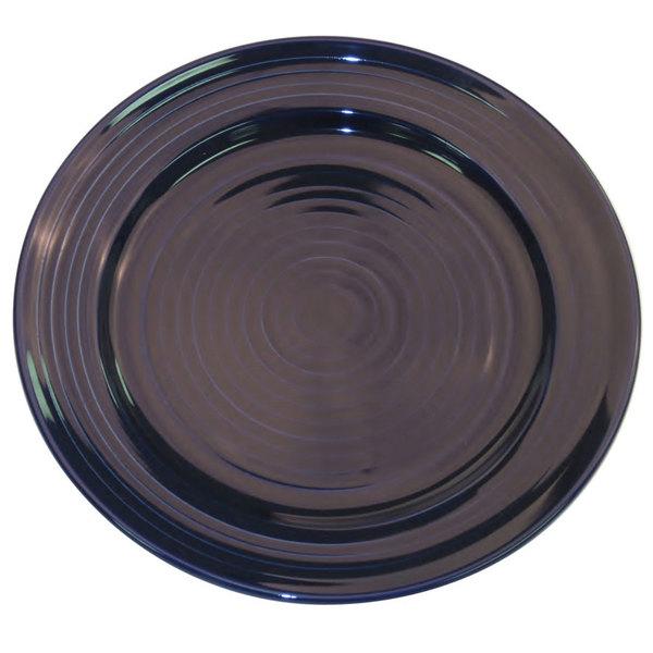 "CAC TG-7-CBU Tango 7 1/2"" Cobalt Blue Round Plate - 36/Case"