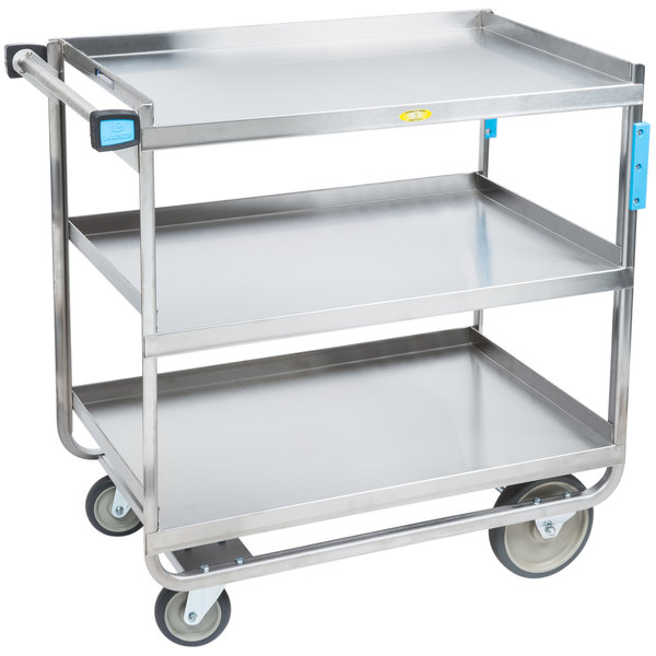 Heavy Duty Utility Cart Stainless Steel 3 Shelf Webstaurantstore