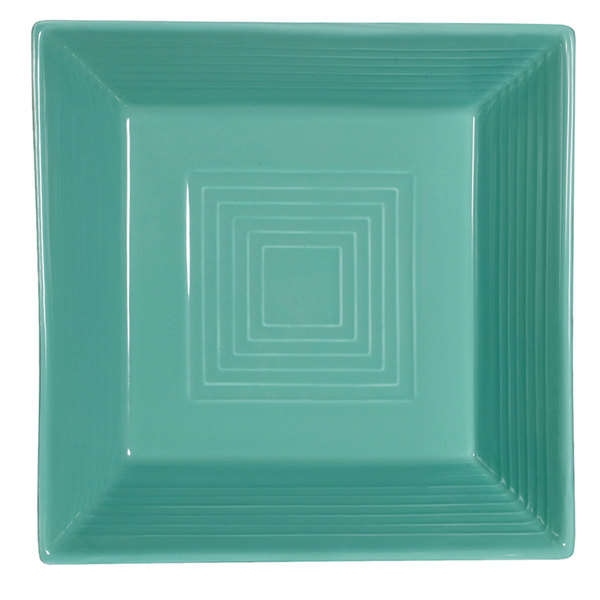 CAC TG-B6-G Tango 15 oz. Green Square Bowl - 24/Case