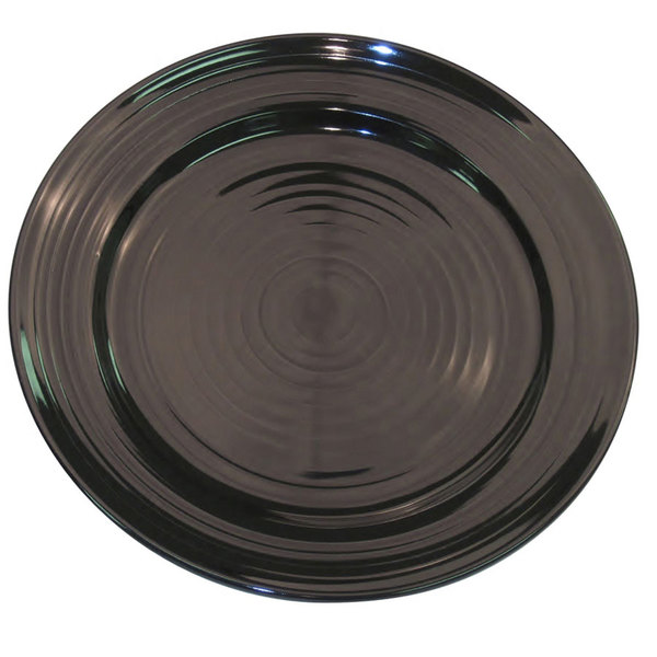 "CAC TG-6-BLK Tango 6 1/2"" Black Round Plate - 36/Case"