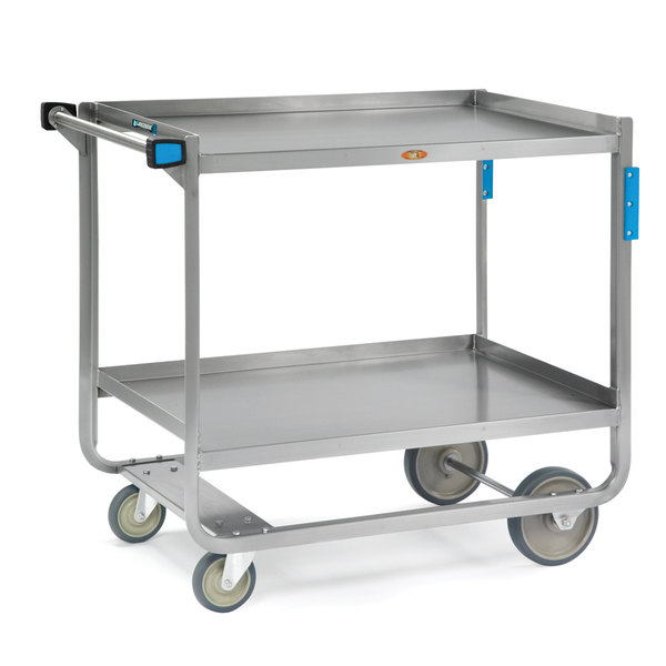 "Lakeside 949 Extra Heavy Duty Stainless Steel 2 Shelf Utility Cart - 22 3/4"" x 39"" x 37 3/8"""