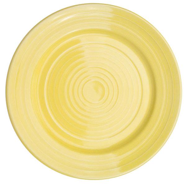 "CAC TG-7-SFL Tango 7 1/2"" Sunflower Round Plate - 36/Case"