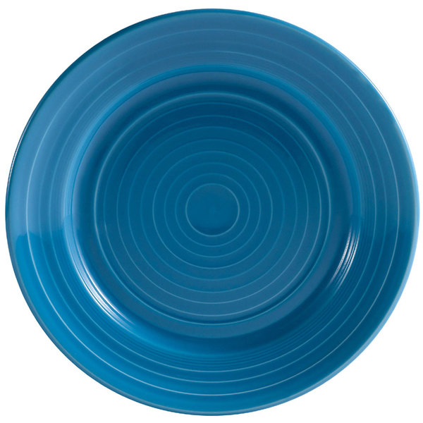 """CAC TG-7-PCK Tango 7 1/2"""" Peacock Round Plate - 36/Case"""