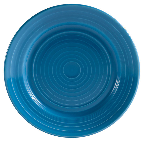 """CAC TG-21-PCK Tango 12"""" Peacock Round Plate - 12/Case"""