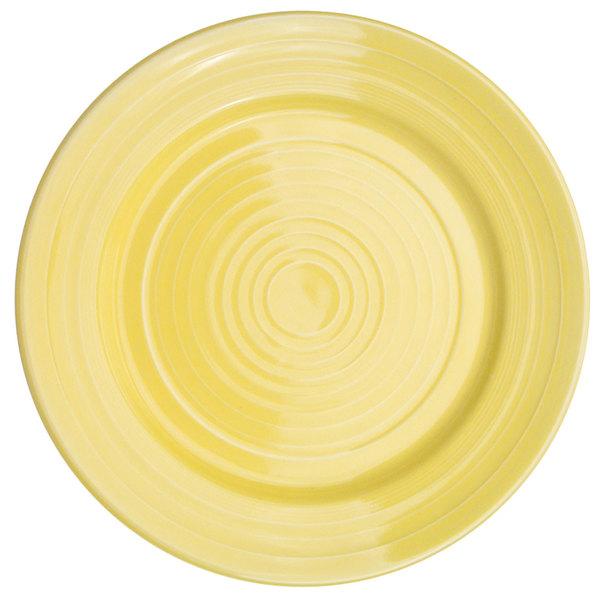 "CAC TG-21-SFL Tango 12"" Sunflower Round Plate - 12/Case"