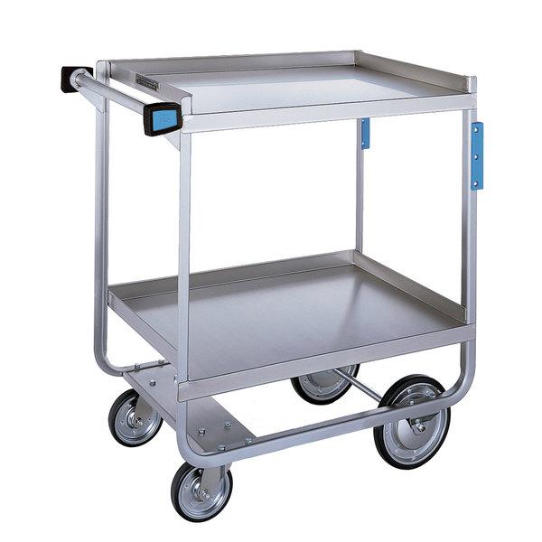"Lakeside 721 Heavy Duty Stainless Steel 2 Shelf Utility Cart - 19 3/8"" x 32 5/8"" x 35 1/2"""