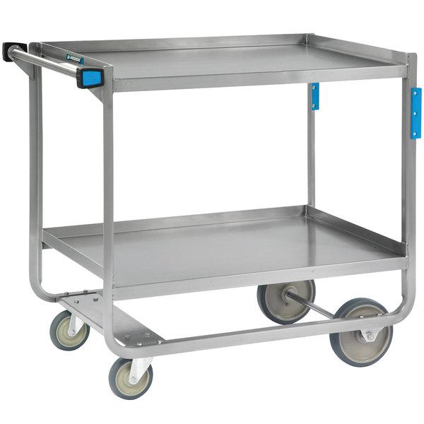 Lakeside 510 Heavy Duty NSF Stainless Steel 2 Shelf Utility Cart - 16 1/4\